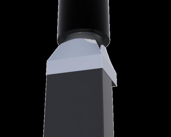 Verloopstuk naar rookkanaal rond 150mm.