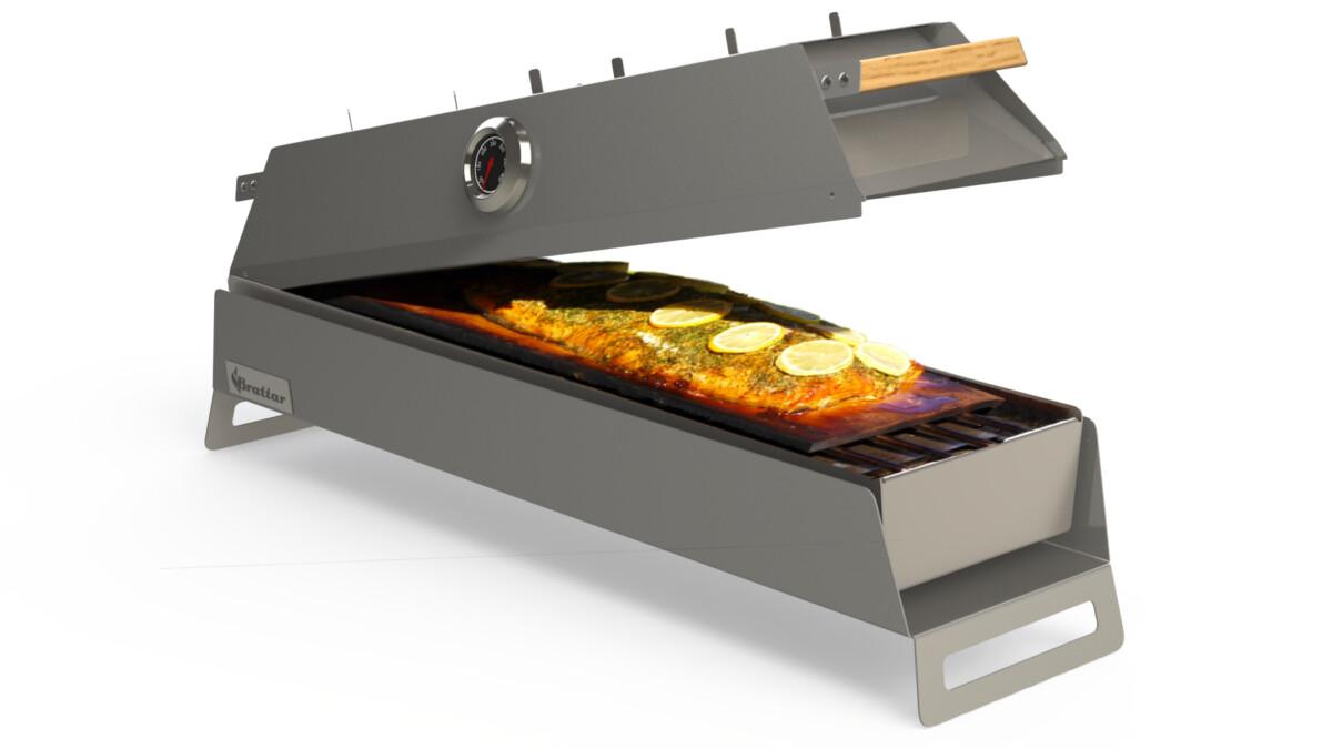 Rookplankje in barbecue
